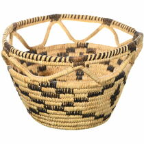 Vintage Papago Basket Open Weave Rim 34648