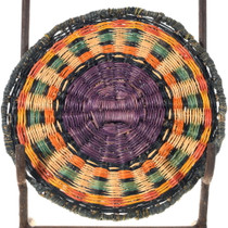 Vintage Hopi Indian Wicker Tray Basket 34651