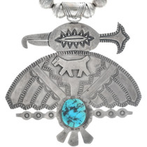 Vintage Sterling Silver Zuni Thunderbird Pendant 34658