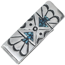 Navajo Turquoise Silver Money Clip 34670