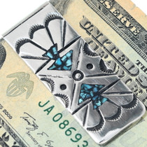 Turquoise Chip Inlay Money Clip 34670