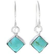 Navajo Turquoise Silver Earrings