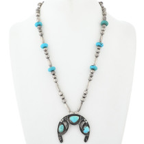 Dead Pawn Turquoise Squash Blossom Necklace 34681