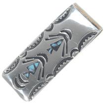 Navajo Turquoise Silver Money Clip 34670
