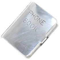 Vintage Sterling Phone Book Charm 1950's Collectible 34687
