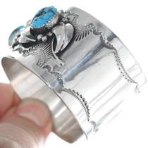 Navajo Turquoise Silver Bracelet 34689