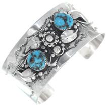 Vintage Turquoise Silver Bracelet 34689