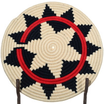 Authentic Navajo Yarn Wrapped Tray Basket 34805
