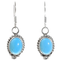 Navajo Turquoise Silver Earrings 39835
