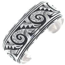 Navajo Wave Pattern Silver Handmade Bracelet 34809