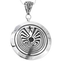 Navajo Sterling Silver Man in the Maze Pendant 34812