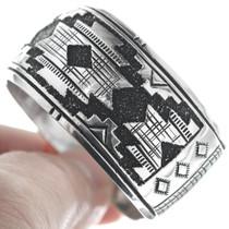 Original Richard Singer Silver Overlay Cuff Bracelet 34811