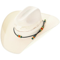Navajo Beaded Leather Hatband 34817