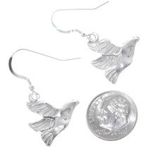 Navajo Silver Dove Earrings 34821