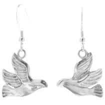 Sterling Silver Dove Dangle Earrings 34821
