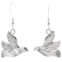 Sterling Silver Dove Dangle Earrings 34821
