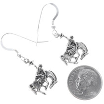 Bucking Bronco Western Sterling Silver Earrings 34824