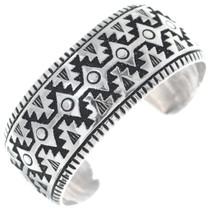 Handmade Overlaid Silver Navajo Bracelet 34827