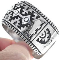 Authentic Navajo Richard Singer Overlay Bracelet 34827