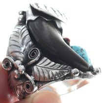 Large Native American Sterling Silver Bear Claw Ring 34699