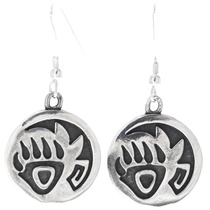 Sterling Silver Bear Paw Navajo Earrings 34830