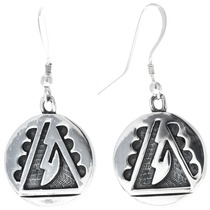 Reversible Navajo Silver Overlay Earrings 34830