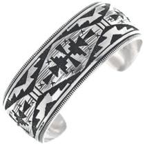 Overlaid Silver Navajo Bracelet 34831