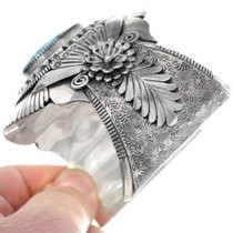 Huge Navajo Sterling Silver Turquoise Bracelet 34835
