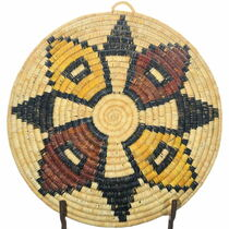 Authentic Native American Hopi Basket Tray 34844