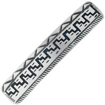 Navajo Made Silver Mesa Hair Barrette 34862