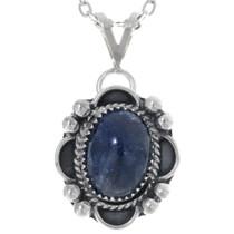 Southwest Sterling Silver Sapphire Pendant 34855