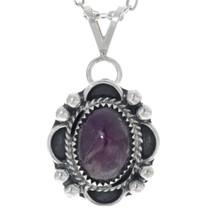 Navajo Silver Ruby Pendant 34856