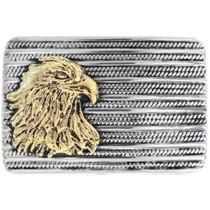 Navajo Gold Eagle Sterling Silver Belt Buckle 34857