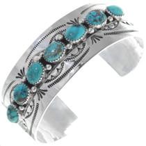 Navajo Turquoise Silver Bracelet 18390