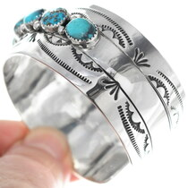 Turquoise Sterling Cuff Bracelet 18390