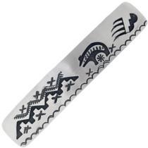 Authentic Navajo Bear Pattern Silver Barrette Clip 34863