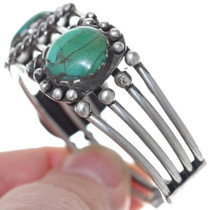 Green Turquoise Native American Bracelet 34869