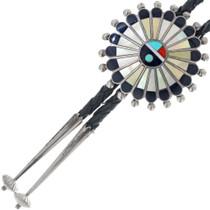 1960s Native American Zuni Inlay Bolo Tie 34870