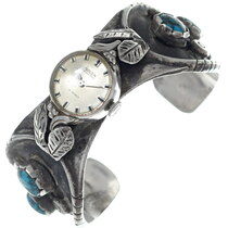 Old Pawn Bisbee Turquoise Ladies Watch 34880