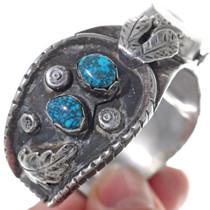 Vintage Bisbee Turquoise Watch Cuff Bracelet 34880