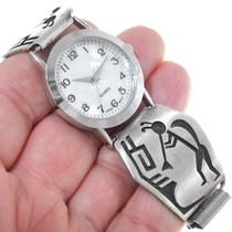 Sterling Silver Hopi Kokopelli Watch 34881