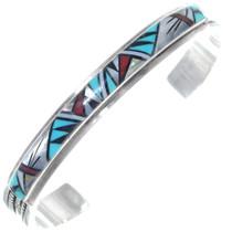 Navajo Inlaid Turquoise Bracelet 34886