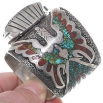 Original Navajo Tommy Singer Turquoise Watch Bracelet 34889
