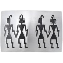 Old Pawn Hopi Overlaid Sterling Belt Buckle 34894