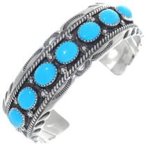 Blue Kingman Turquoise Silver Cuff 11501