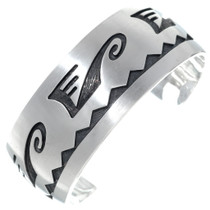 Old Pawn Hopi Overlaid Silver Cuff Bracelet 34897