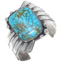 Old Pawn Royston Turquoise Silver Cuff Bracelet 34902