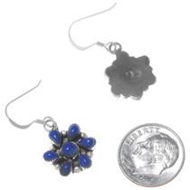 Lapis Lazuli Silver Zuni Earrings Signed 34906
