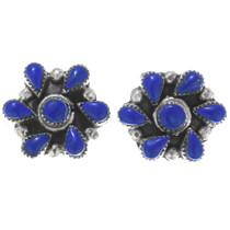 Silver Post Lapis Earrings 34907