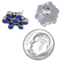 Authentic Zuni Myra Qualo List Lapis Lazuli Post Earrings 34907